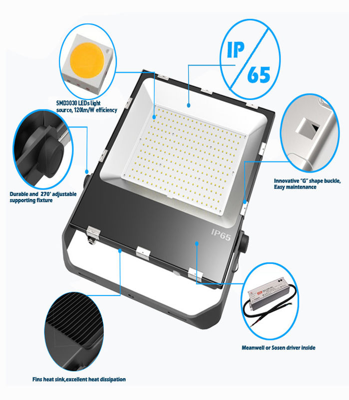 200W Industrial LED Flood Lights , IP65 Waterproof Outdoor Flood Lights